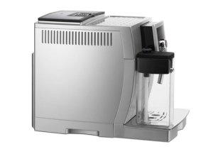 Der DeLonghi One Touch ECAM23.450.S Kaffeevollautomat von der Seite