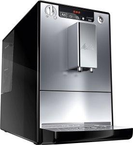 Der Melitta E 950-103 schwarz-silber Kaffeevollautomat Caffeo Solo  ist klein und kompakt
