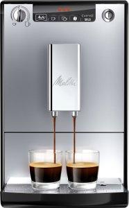 Der Melitta E 950-103 schwarz-silber Kaffeevollautomat Caffeo Solo kocht leckeren Kaffee für zwei Tassen