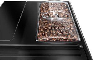Der Bohnenbehälter des Melitta E 950-103 schwarz-silber Kaffeevollautomat Caffeo Solo