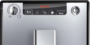 Das Display des Melitta E 950-103 schwarz-silber Kaffeevollautomat Caffeo Solo