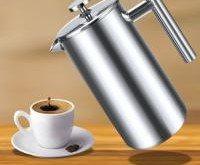Teamyy 1 Liter Press Kaffeekanne Kaffeebereiter Doppelwand