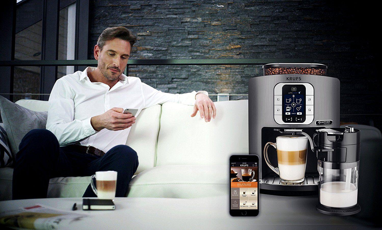 Krups EA860E Kaffeevollautomat One-Touch-Cappuccino Latte Smart - App gesteuert