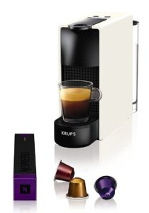 Krups Nespresso XN1101 Essenza Mini Kaffeekapselmaschine (1260 Watt, Thermoblock-Heizsystem, 0,7 Liter, 19 bar) weiß